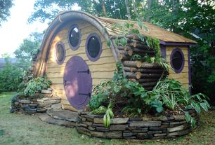 Rustic Playroom with Wooden wonders big merry hobbit hole