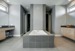 Contemporary Master Bathroom with specialty door, Soapstone counters, Soapstone, Master bathroom, European Cabinets
