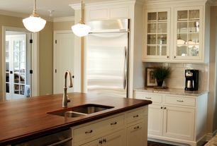 Traditional Kitchen with One-wall, Daltile - rittenhouse square arctic white 3 in. x 6 in. ceramic modular wall tile, Paint 2
