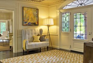 Traditional Entryway with Standard height, Hardwood floors, can lights, Wholesale Interiors Kerrigan Modern Settee - Beige