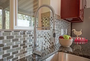 Contemporary Kitchen with Series 400 single-handle pull-down sprayer kitchen faucet in chrome, Paint 1, full backsplash