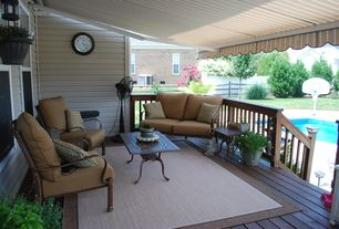 Contemporary Deck with Fence