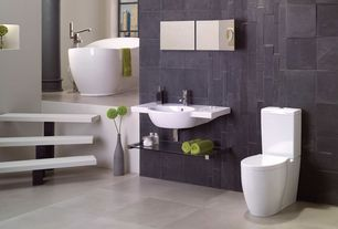 Contemporary Master Bathroom with Slate wall tiles, Arizona Tile, Torreon Stone, Travertine., Master bathroom, Columns