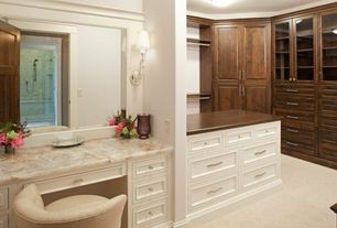 Traditional Closet with Standard height, Built-in bookshelf, Paint 1, Carpet