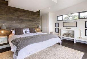 Contemporary Master Bedroom with Perfect throw, Menu Grethe Meyer GM Mini Pendant, Built-in bookshelf, Pendant light