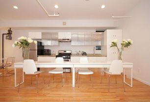 Contemporary Kitchen with Hardwood floors, European Cabinets, Flush, Simple granite counters, One-wall, Kitchen island