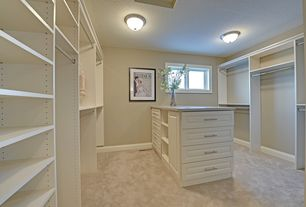 Traditional Closet with ClosetMaid Selectives 23.5 in. x 5 in. White Decorative Drawer, Paint 1, Casement, Carpet, Paint 2