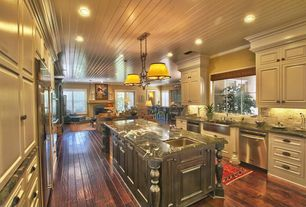 Traditional Kitchen with Genesis Marble and Granite - Spider Green Marble, Crown molding, Soapstone counters, two dishwashers
