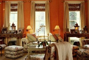 Traditional Living Room with bedroom reading light, Standard height, Hardwood floors, double-hung window
