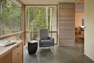 Contemporary Home Office with Concrete floors