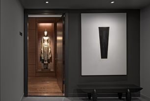 Contemporary Entryway with High ceiling, simple granite floors