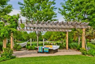 Traditional Landscape/Yard with Trellis