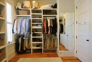 Traditional Closet with Rasta Ivory Shag Rug, Custom closet storage, Walk in closet