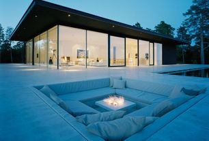 Patio with Fire pit, picture window