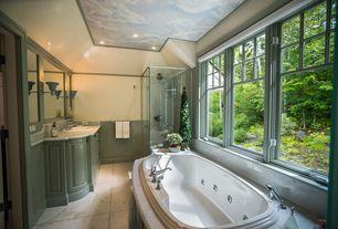 "Traditional Master Bathroom with Jacuzzi Gallery Bath, Turkish Carrara White / 12""x24""x3/8"" / Polished"
