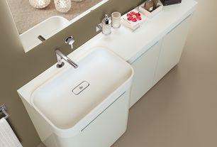 Modern 3/4 Bathroom with Cc home furnishings - small modern white geometric bamboo hurricane pillar candle lantern