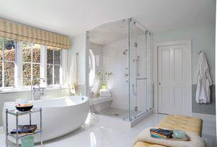 Traditional Master Bathroom with Master bathroom, Freestanding, Handheld showerhead, frameless showerdoor, specialty door