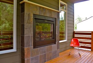 Modern Porch with Screened porch
