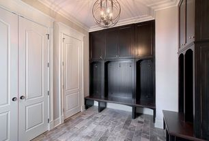 Traditional Mud Room with Inset cabinet doors, Painted cabinetry, Built-in bench seating, Custom cabinetry, Beadboard