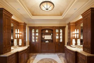 Traditional Master Bathroom with Undermount sink, Flat panel cabinets, Complex Granite, flush light, Paint 2, Opal Cylinder 2