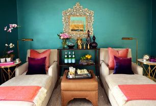 Eclectic Living Room with Standard height, Rejuvenation studio adjustable floor lamp, Carpet, Paint 1