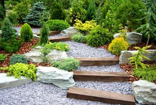 Traditional Landscape/Yard with Pathway, Raised beds, exterior stone floors