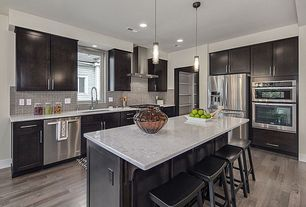 Contemporary Kitchen with Kitchen island, Lbl lighting mini rock candy c led smoke 6w monopoint, Breakfast bar, Flush