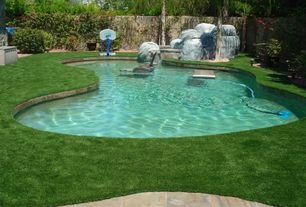 Tropical Swimming Pool with Fence, Other Pool Type, exterior stone floors, Pathway