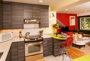 Contemporary Kitchen with Silestone-Quartz Countertop in Daria