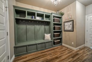 Contemporary Mud Room with Montagna gunstock 6 in. x 24 in. glazed porcelain floor and wall tile (14.53 sq. ft. / case)