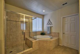 "Master Bathroom with Aquatica Allegra Built In 74.75"" x 74.75"" Soaking Tub, Choose Framed Shower Swing Doors Configurations"