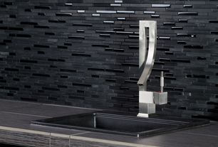 Contemporary Bar with Fresca liris single hole bathroom faucet with single handle