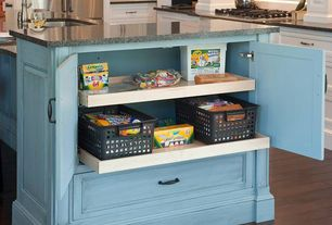 Traditional Kitchen with Multiple Refrigerators, Herringbone Tile, electric cooktop, L-shaped, Inset cabinets, Subway Tile