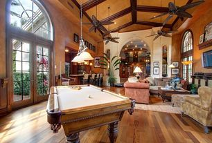 Traditional Game Room with Monte Carlo 5CU52RB Cruise 52 in. Indoor / Outdoor Ceiling Fan - Roman Bronze, Transom window