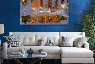 Contemporary Living Room with Oliver gal ''cristal on crystal'' painting print on canvas, High ceiling, Carpet