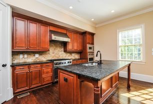Traditional Kitchen with Dura Supreme Cabinetry Venice, Pental Namibia Green Polished Granite