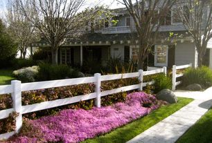 Country Landscape/Yard with Paver path, exterior tile floors, Brighter Blooms Autumn Belle Encore Azalea, Pathway, Fence