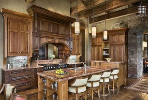 Traditional Kitchen with Jasper hardwood - brushed oak collection plateau gray