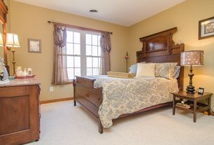 Traditional Guest Bedroom with Standard height, double-hung window, Carpet