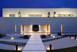 Modern Landscape/Yard with Accent landscape lighting