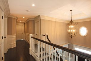 Traditional Hallway with Paint 1, Quorum 6878-6-95 Tribeca - Six Light Pendant, Old World Finish, Paint 3, Paint 2