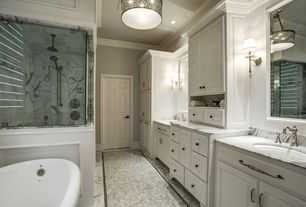 Traditional Master Bathroom with Master bathroom, Crown molding, Signature Hardware Zelda Widespread Bathroom Faucet