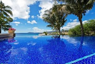 Tropical Swimming Pool with Glass Tile