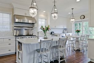 Traditional Kitchen with Hickory Hardware Williamsburg 3 in. Cup Pull, Pottery barn hundi cut glass lantern, Pendant light