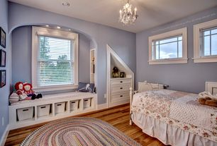 Craftsman Kids Bedroom with Chandelier, Hillsdale Ruby Metal Bed, Capel Baby's Breath Grass Kids Area Rug Oval 8' x 11'