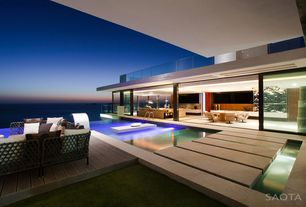 Modern Patio with exterior tile floors, Pathway