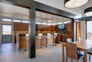 Modern Kitchen with Lbl lighting tubular 1 light mini pendant, Simple granite counters, L-shaped, European Cabinets, Flush