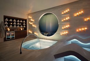 Contemporary Hot Tub with Fountain, Pental Island Stone Parallels V