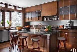 Contemporary Kitchen with Onyx, Undermount sink, Flush, two dishwashers, Pental - Agata Polished Granite, Breakfast bar