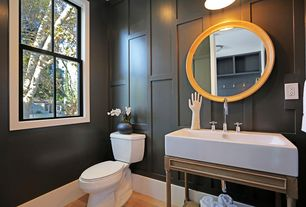 Contemporary Powder Room with MagickWoods 2188 40'' Vanity and Sink Top Combo, Dark Chocolate, Standard height, Powder room